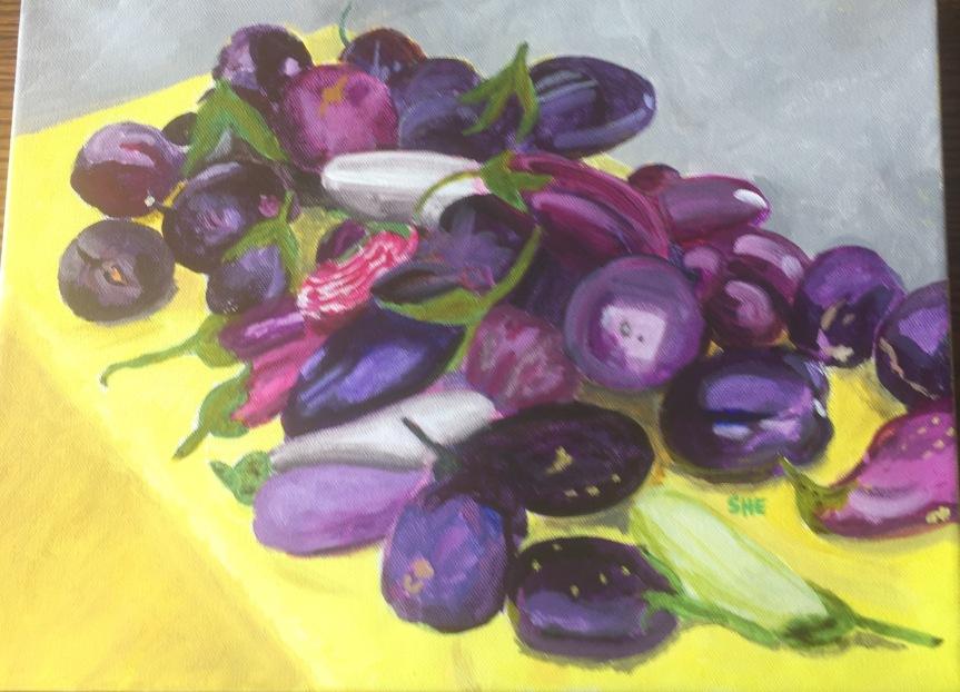 001 - Eggplants at Santa Fe Farmer's Market
